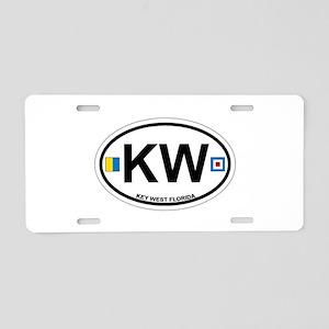 Key West - Oval Design. Aluminum License Plate