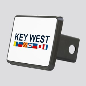 Key West -Nautical Flags. Rectangular Hitch Cover