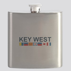 Key West -Nautical Flags. Flask