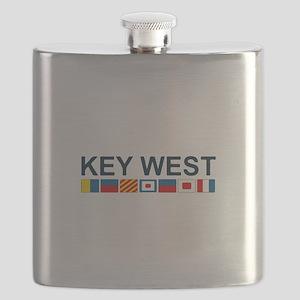 Key West -Nautical Flags. Flask