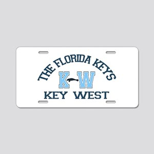 Key West - Varsity Design. Aluminum License Plate