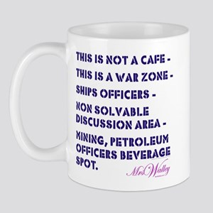 """Mrs Walley """"War Zone"""" Coffee Cup"""