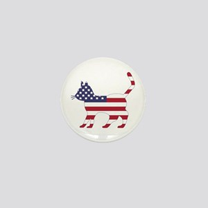 US Flag Cat Icon Mini Button