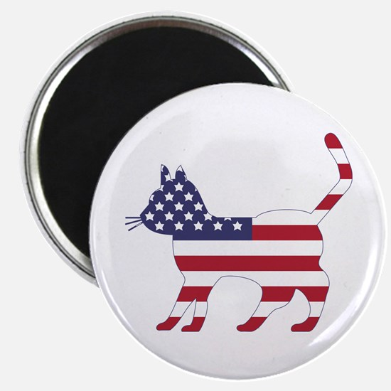 "US Flag Cat Icon 2.25"" Magnet (10 pack)"