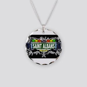 Saint Albans Queens NYC (Black) Necklace Circle Ch