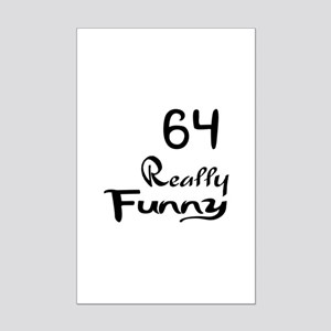 64 Really Funny Birthday Designs Mini Poster Print
