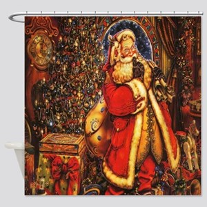 Victorian Santa Shower Curtain