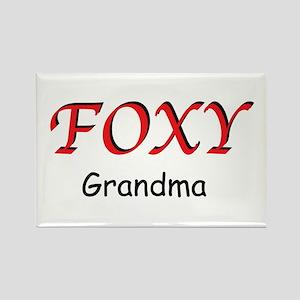 Foxy Grandma Rectangle Magnet