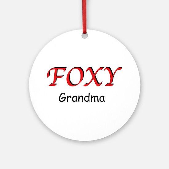 Foxy Grandma Ornament (Round)