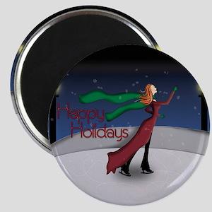 Holiday Skating Magnet