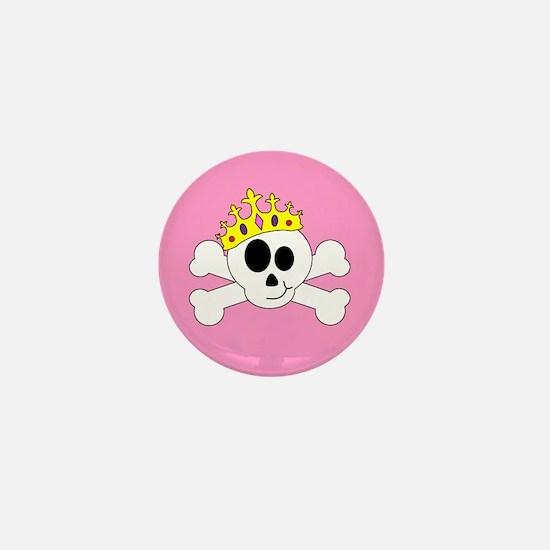 Princess Skull Mini Button