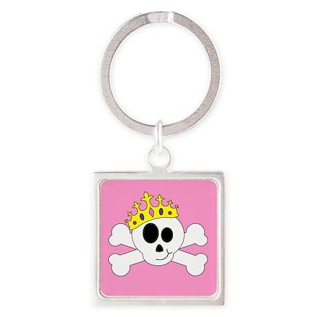 Princess Skull Square Keychain