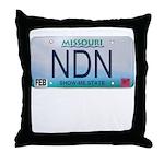 Missouri NDN license plate Throw Pillow