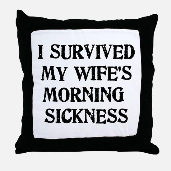 Morning Sickness Throw Pillow