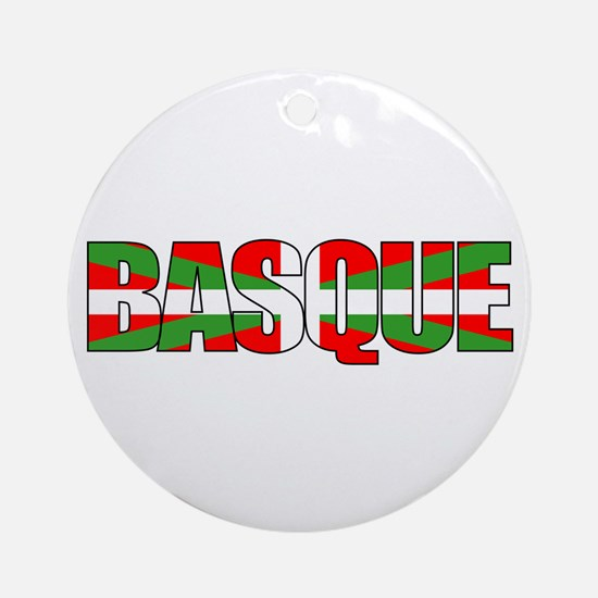 BASQUE! Ornament (Round)
