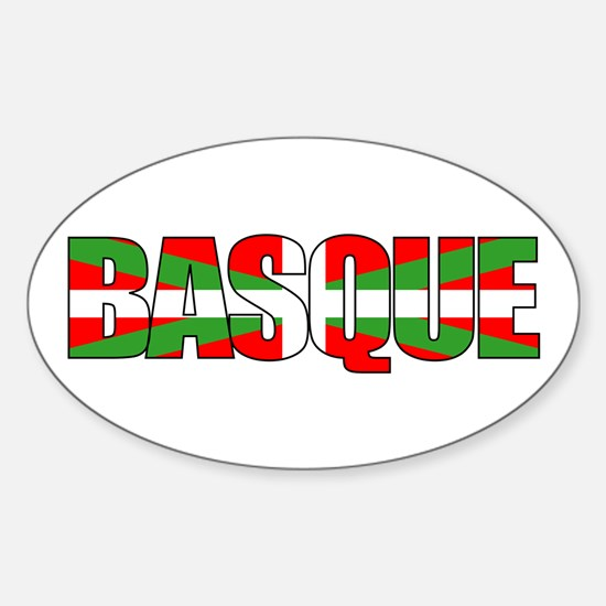 BASQUE! Oval Decal