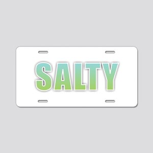 Salty Aluminum License Plate
