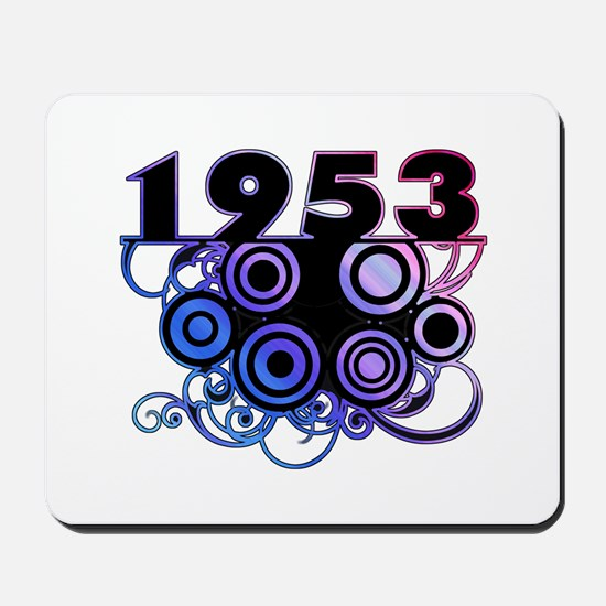 1953 Birthday Cool Funky Art Mousepad