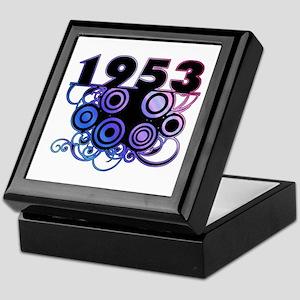 1953 Birthday Cool Funky Art Keepsake Box