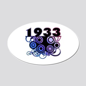 1933 Birthday Cool Funky Art 20x12 Oval Wall Decal