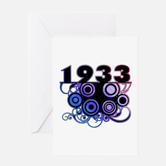 1933 Birthday Cool Funky Art Greeting Card