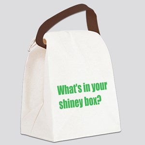 whats-in-your-shiney-box Canvas Lunch Bag