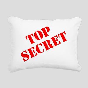 Top Secret Rectangular Canvas Pillow