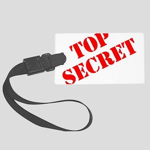 Top Secret Large Luggage Tag