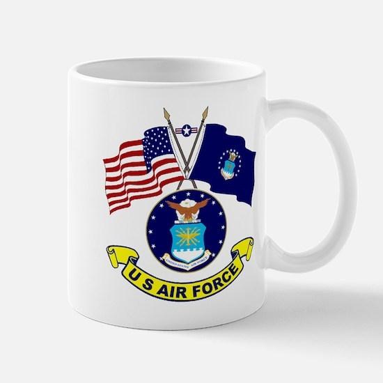 USAF-USA Flags Mug