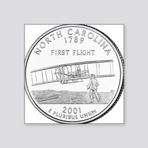 "North Carolina State Quarter Square Sticker 3"" x 3"