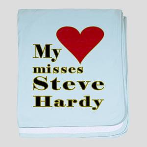 Heart Misses Steve Hardy baby blanket