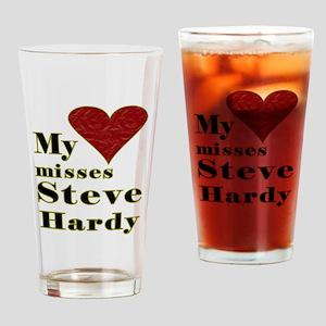 Heart Misses Steve Hardy Drinking Glass