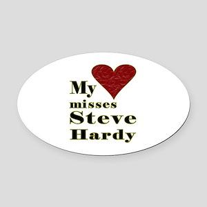 Heart Misses Steve Hardy Oval Car Magnet