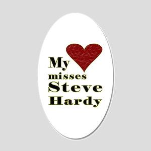 Heart Misses Steve Hardy 20x12 Oval Wall Decal