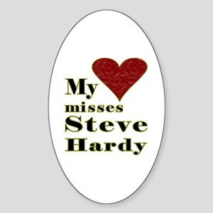 Heart Misses Steve Hardy Sticker (Oval)