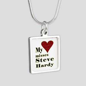 Heart Misses Steve Hardy Silver Square Necklace