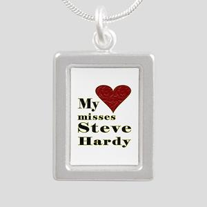 Heart Misses Steve Hardy Silver Portrait Necklace
