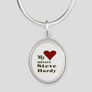 Heart Misses Steve Hardy Silver Oval Necklace