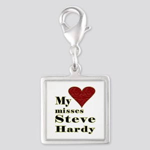 Heart Misses Steve Hardy Silver Square Charm