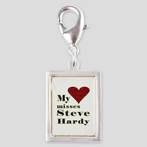 Heart Misses Steve Hardy Silver Portrait Charm