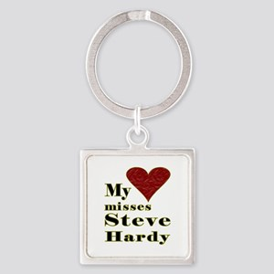 Heart Misses Steve Hardy Square Keychain