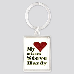 Heart Misses Steve Hardy Portrait Keychain