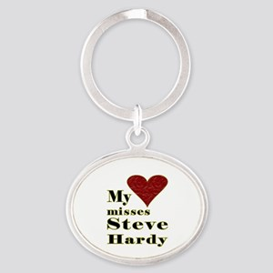 Heart Misses Steve Hardy Oval Keychain