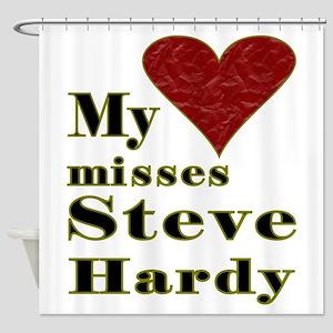 Heart Misses Steve Hardy Shower Curtain