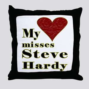 Heart Misses Steve Hardy Throw Pillow
