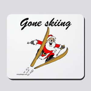 Santa's Gone Skiing Mousepad