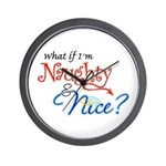 Naughty & Nice Wall Clock