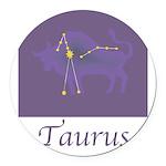 Taurus-19.png Round Car Magnet