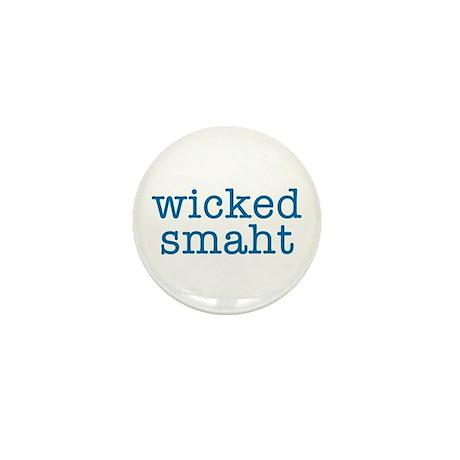 Wicked Smaht Mini Button (blue)