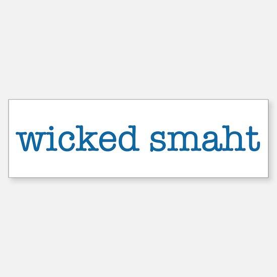 Wicked Smaht Bumper Sticker (blue)